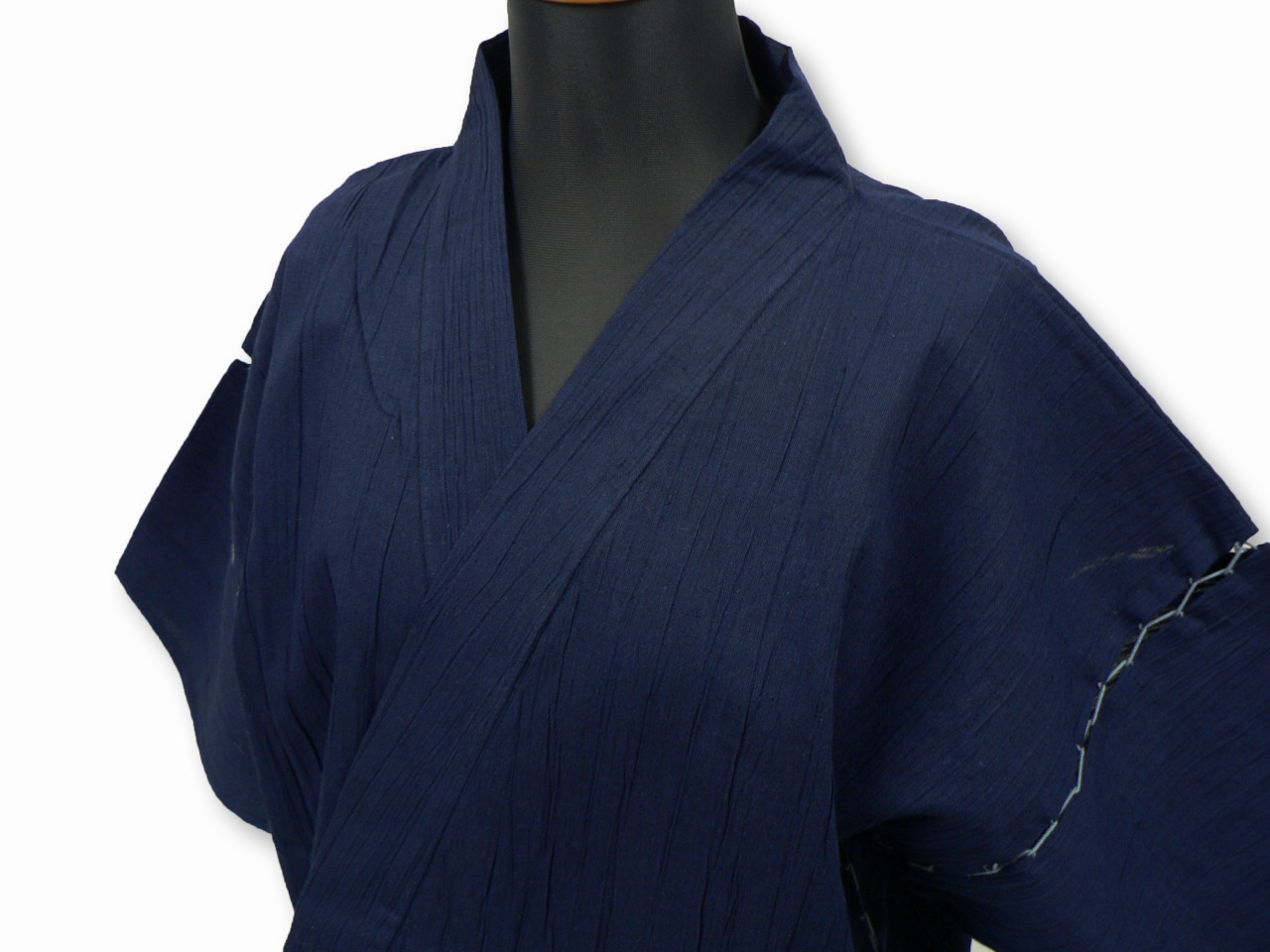綿麻楊柳甚平(日本製) 濃紺 マネキン着用