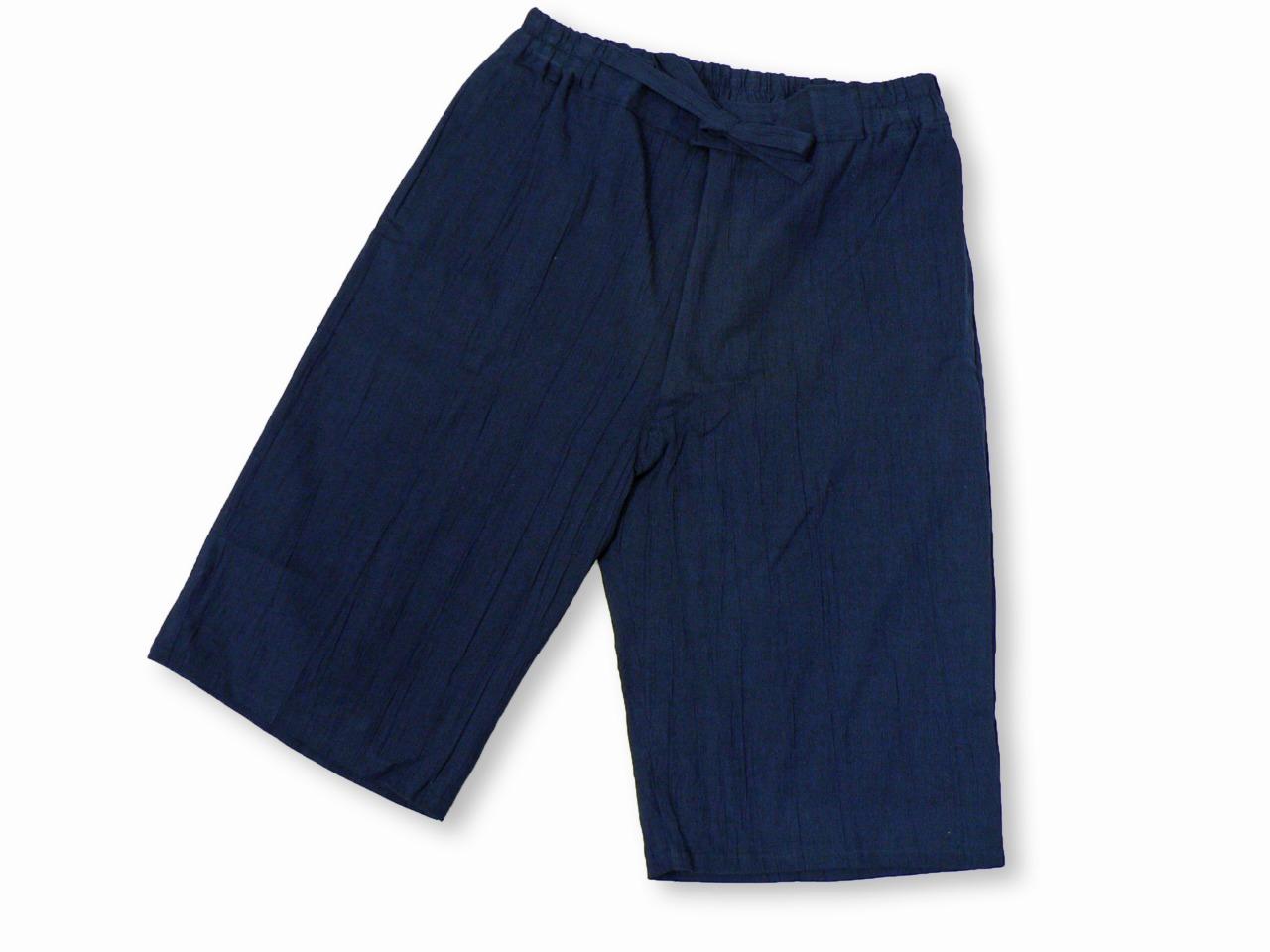 綿麻楊柳甚平(日本製) 濃紺 ズボン