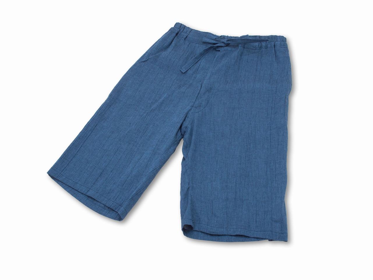 綿麻楊柳甚平(日本製) 中紺 ズボン