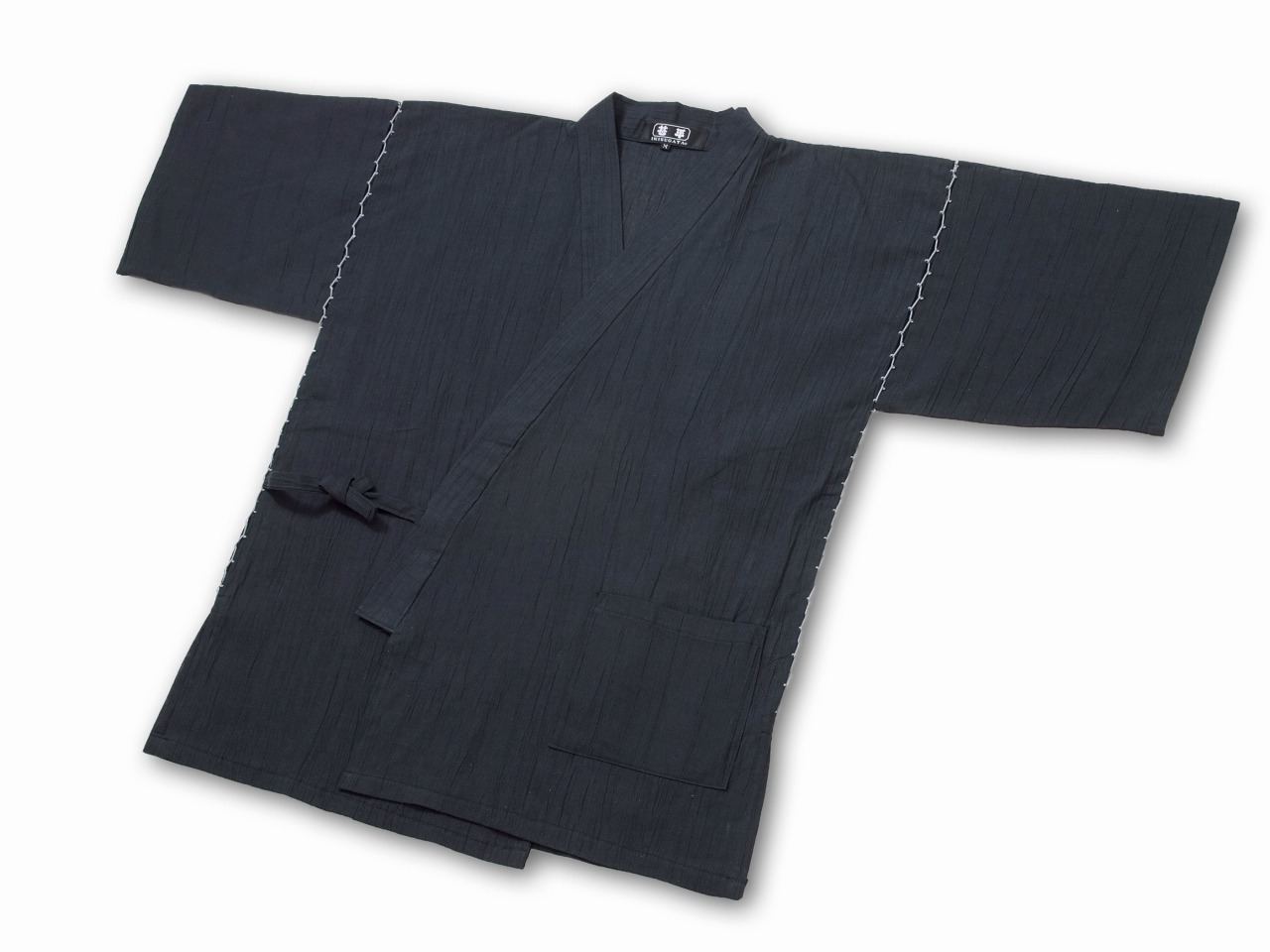 綿麻楊柳甚平(日本製) 濃紺 上着