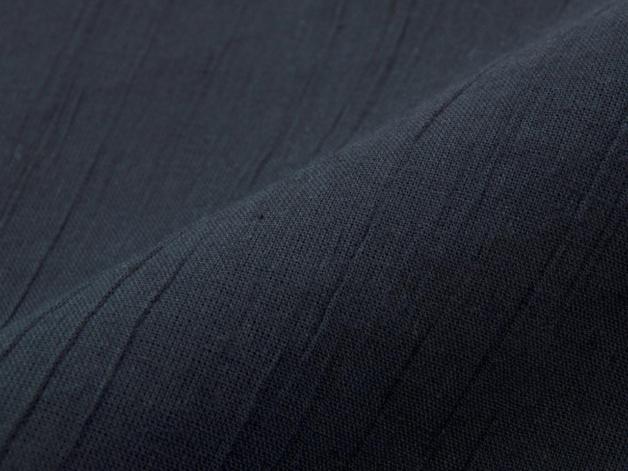 綿麻楊柳甚平(日本製) 濃紺