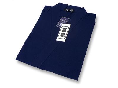 綿しじら甚平(日本製) 濃紺 畳み