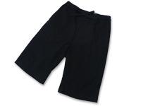 綿しじら甚平(日本製) 黒 ズボン