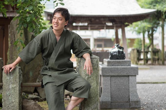 IKISUGATAブランドの純日本製の甚平です。