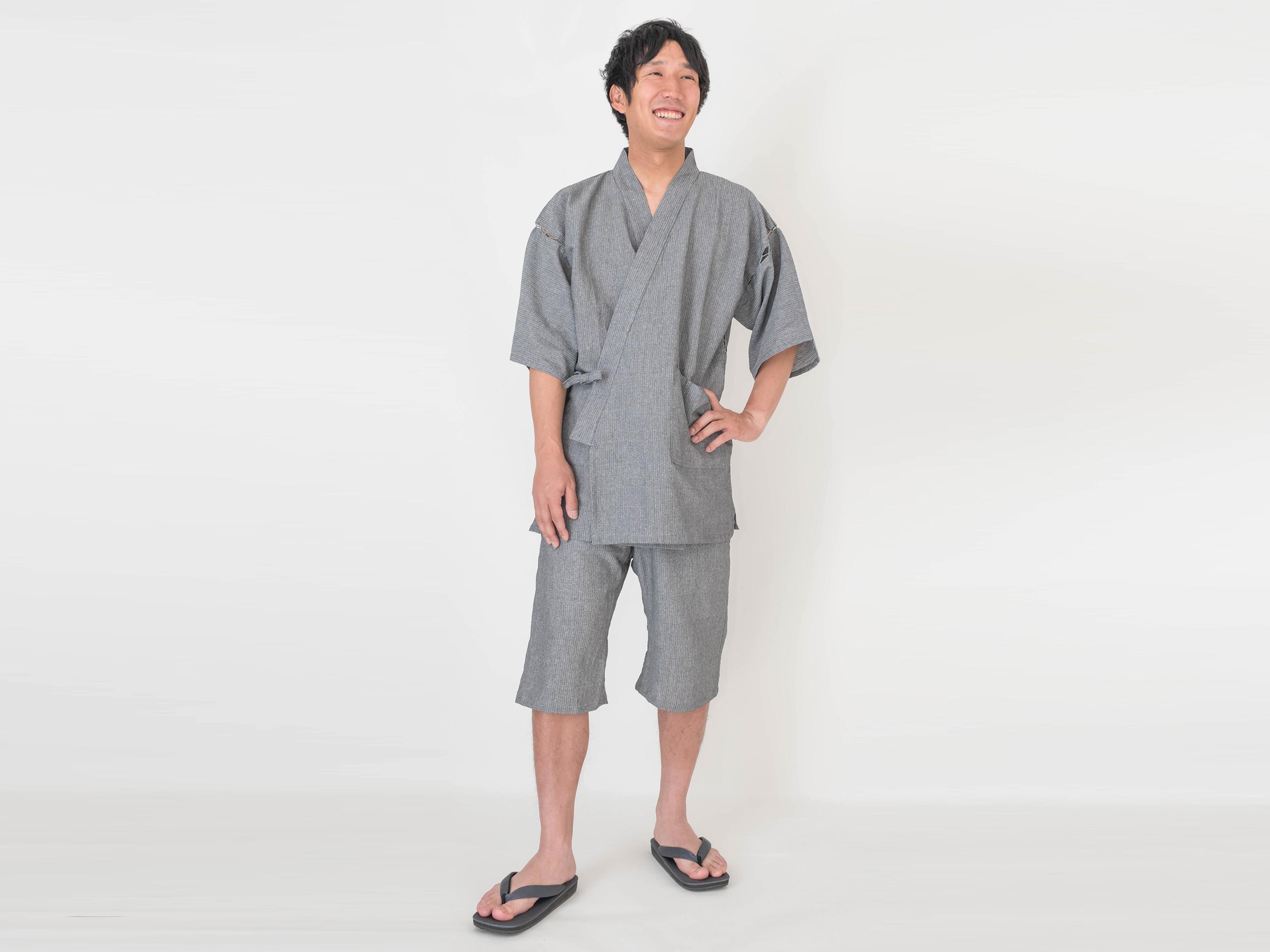 和紙しじら織甚平 日本製