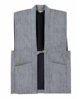 正絹羽織グレー