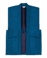 正絹羽織ブルー