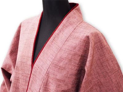 日本製女性用パンツルック作務衣ピンク