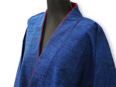 女性パンツルック作務衣 ブルー