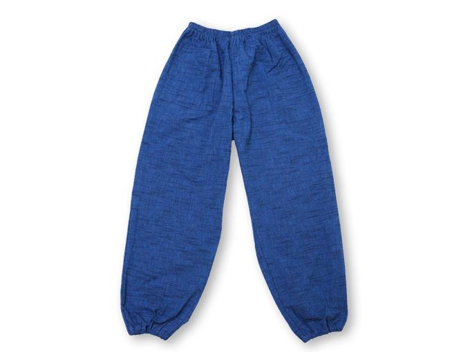女性パンツルック作務衣 ブルー ズボン