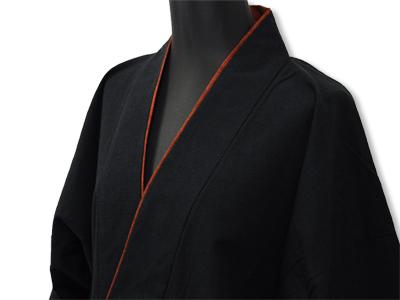 日本製女性用パンツルック作務衣黒