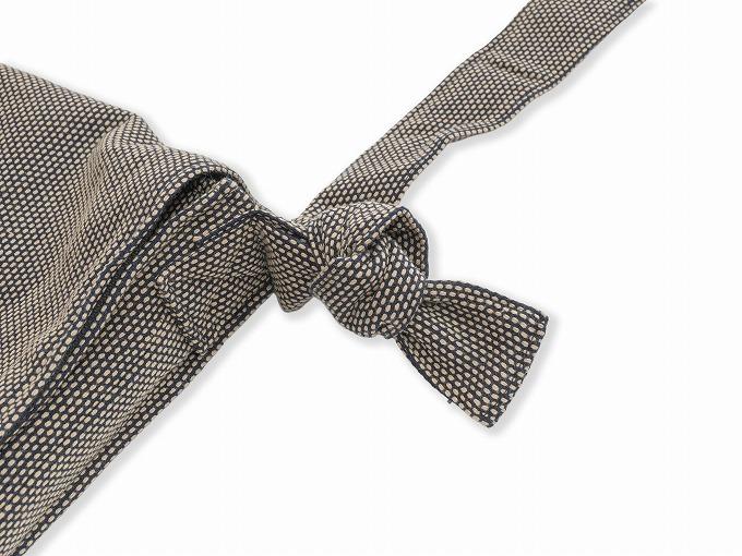 刺子織頭陀袋 茶