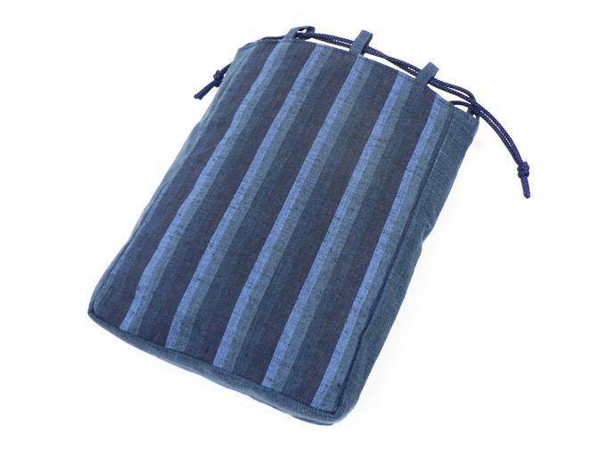 綿縞信玄袋 No.1 紺太縞×紺