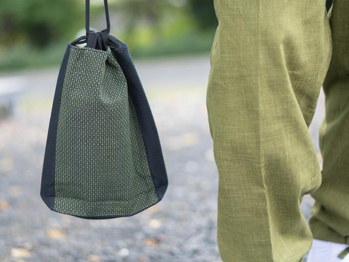 ドビー刺子織信玄袋 グリーン(緑)