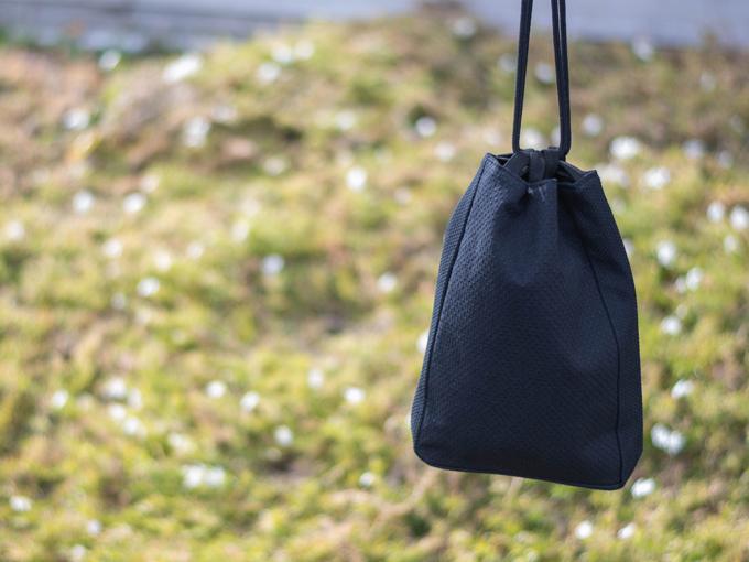 ドビー刺子織信玄袋 ブラック(黒)