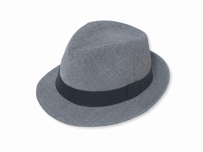 和紙しじら織中折れ帽子 No.2 グレー