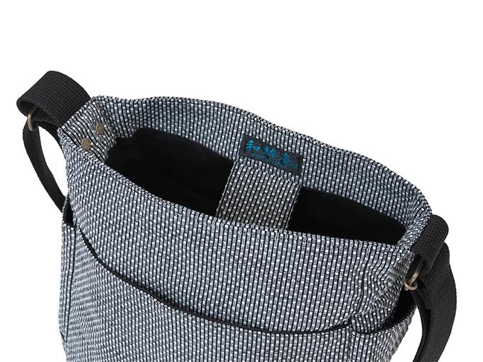 作務衣用刺子織ショルダーバッグ