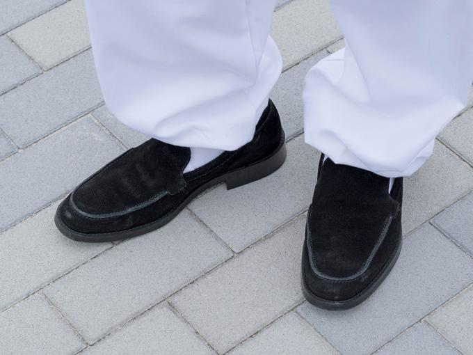 男物メンズ 作務衣シューズ(日本製) 黒(ブラック)