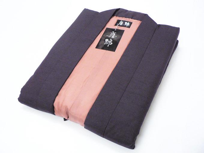 日本製 真綿はんてん No.5 パープル