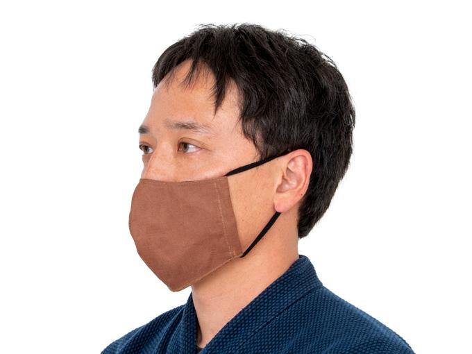 抗ウイルス柿渋染マスク
