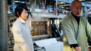 石山雄大さん作務衣7番色  浅緑 映画桐生人