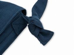 刺子織頭陀袋 濃紺 結び目部分