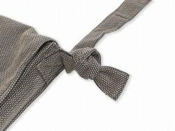 刺子織頭陀袋 茶 結び目部分