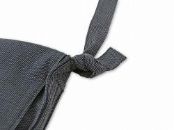 刺子織頭陀袋 グレー 結び目部分