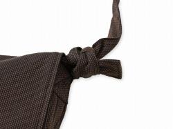 刺子織頭陀袋 濃茶 結び目部分