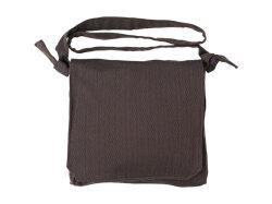 刺子織頭陀袋 濃茶
