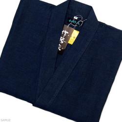 本麻作務衣 紺