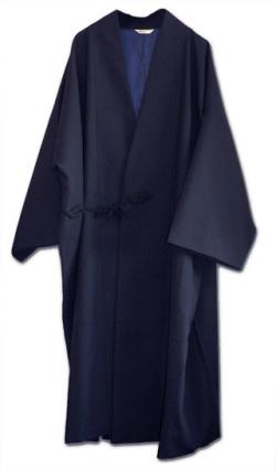 ウール作務衣コート【紺】