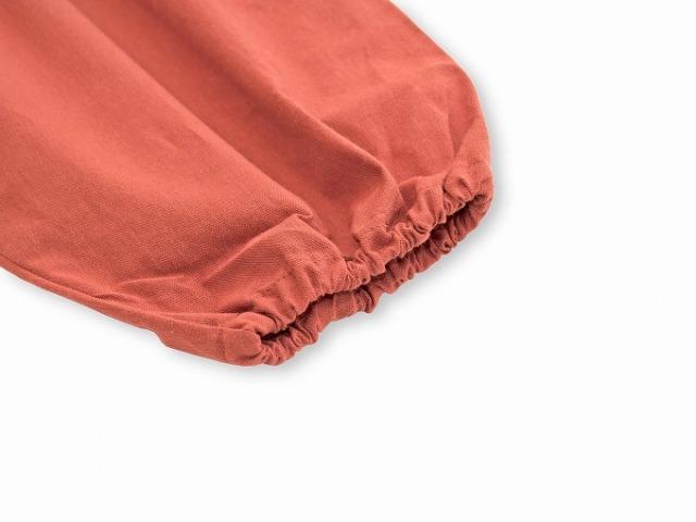 袴式本もんぺ無地 NO.2 オレンジ 裾部分