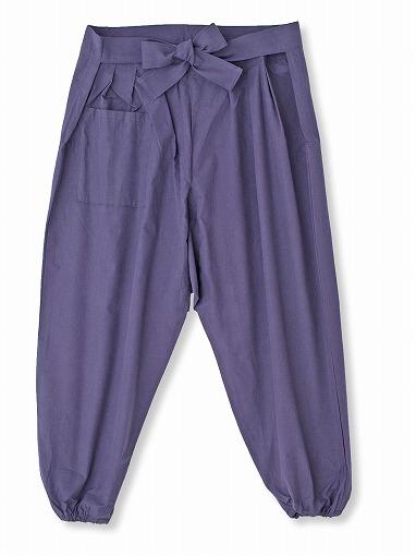 袴式本もんぺ無地 NO.8 紫 全体1