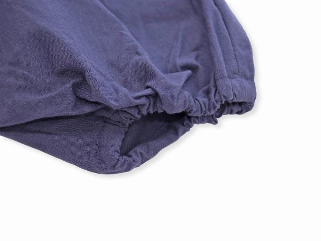 袴式本もんぺ無地 NO.8 紫 裾部分