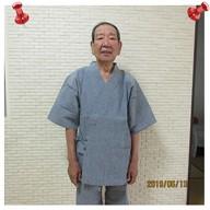綿麻楊柳甚平 No.5グレー Mサイズ