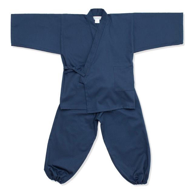 子供用綾織作務衣 1番色 紺