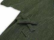 子供用近江ちぢみ絣織甚平 グリーン 上着紐