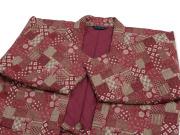 和紡ぎ女性綿入袢天 古典柄