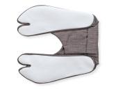 男漢 色木綿 柄足袋 グレー格子