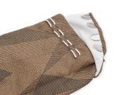 男漢 色木綿 柄足袋 茶