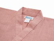 子供用絣紬作務衣 ピンク 上着衿