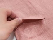 子供用絣紬作務衣 ピンク 上着ポケット