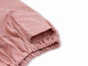 子供用絣紬作務衣 ピンク ズボン裾