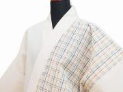 日本製阿波しじら女性デザイン作務衣