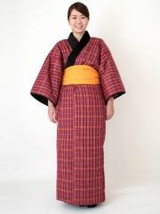 日本製綿入れ長丹前 紺