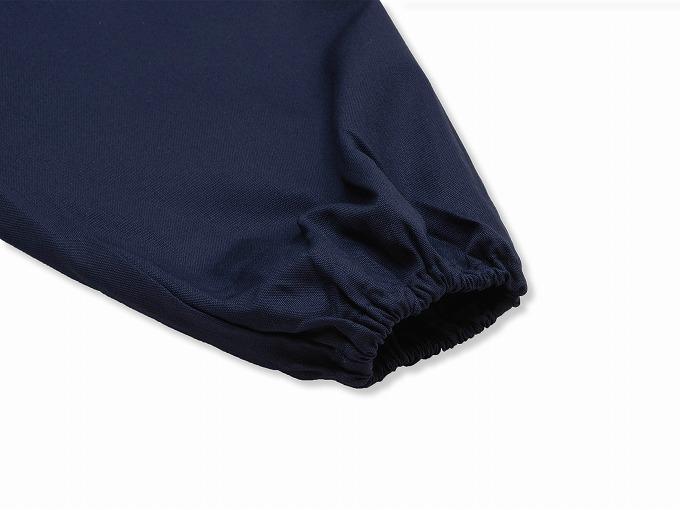 ななこ織作務衣 濃紺 ズボン裾