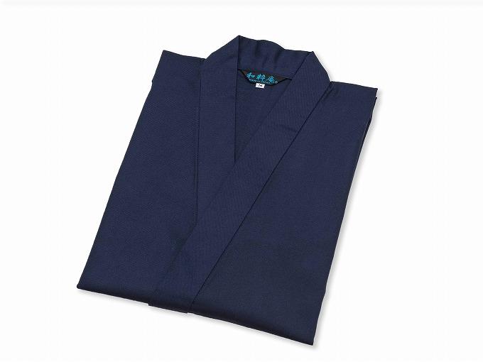 ななこ織作務衣 濃紺 畳んだ状態