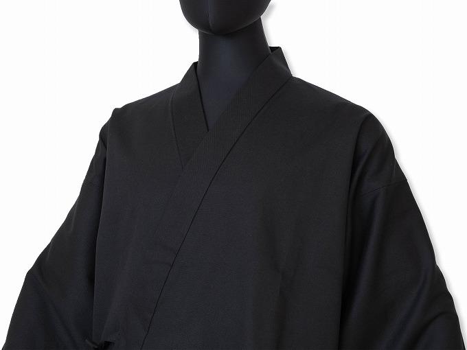 ななこ織作務衣 黒