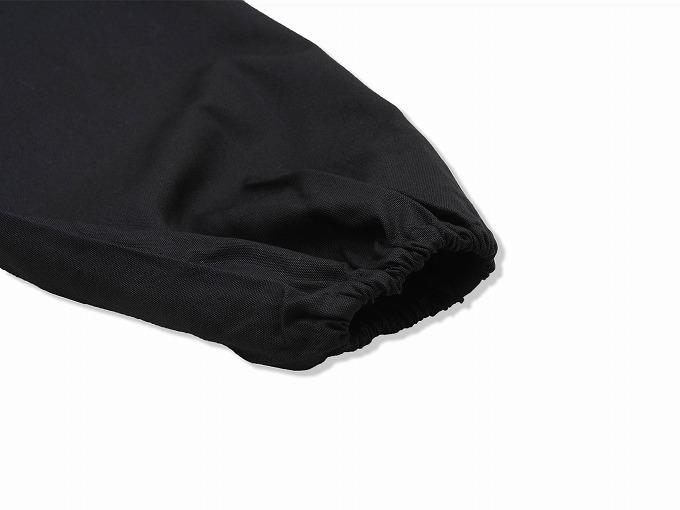 ななこ織作務衣 黒 ズボン裾